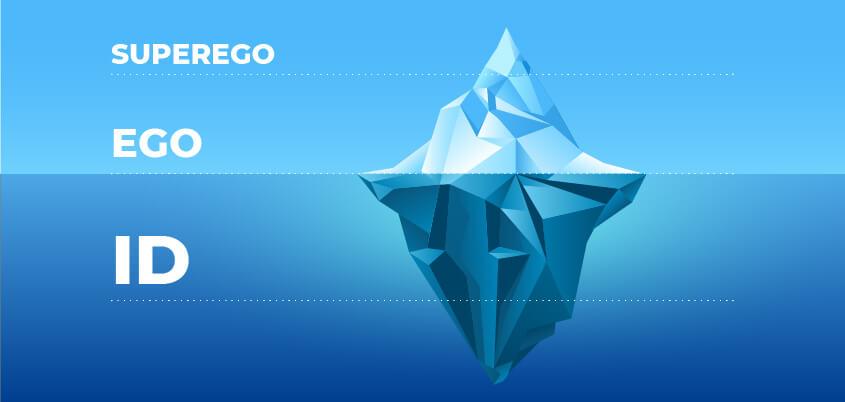 banner que demonstra um iceberg comparando a mente humana