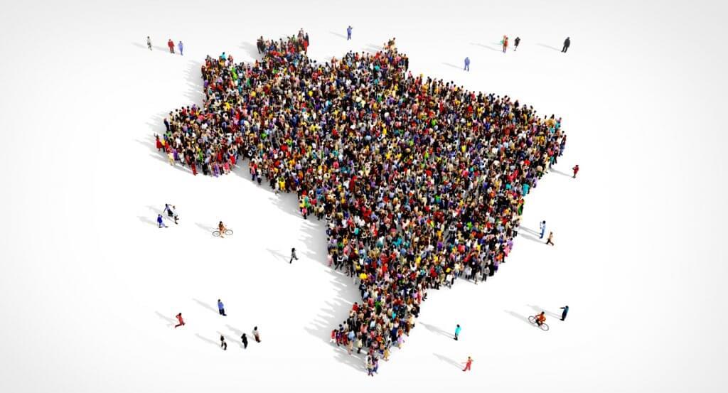 imagem ilustrativa de um mapa sendo feito por pessoas