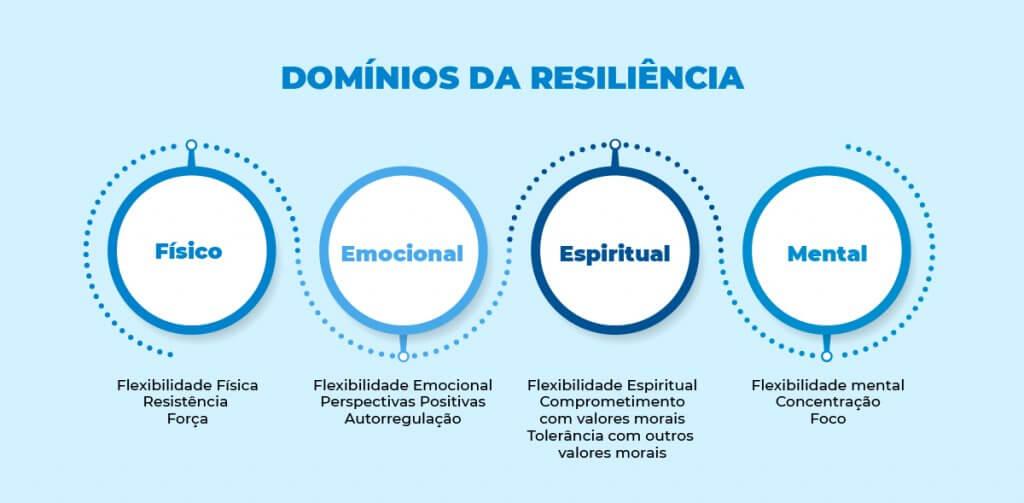 infográfico - os 4 domínios da resiliência