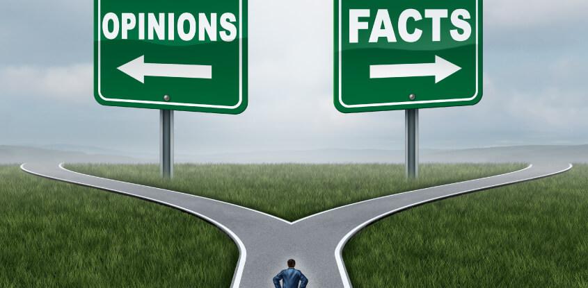 opinião versus fatos